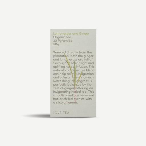 LOVE TEA Organic Lemongrass & Ginger Tea Bags 50g