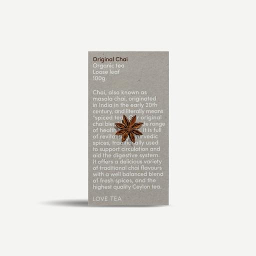 LOVE TEA Organic Original Chai Tea Bags 60g